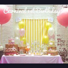 "Photo 1 of 93: Vintage Carnival / Birthday ""Vintage Carnival 1st Birthday- Girl""   Catch My Party"