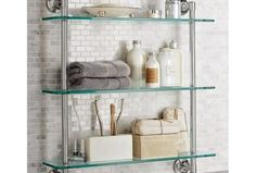 Ideas Bath Room Shelves Over Toilet Glass Decor Bathroom Shelves Over Toilet, Spa Like Bathroom, Small Bathroom, Bathroom Ideas, Spa Bathrooms, Barn Bathroom, Rental Bathroom, Bathroom Pictures, Bath Ideas