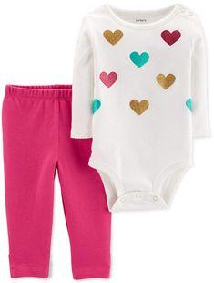 c93c05186222f Carter s Baby Girls 2-Pc. Cotton Bodysuit  amp  Leggings Set Little Girl  Closet