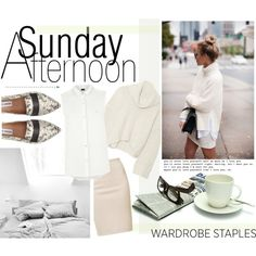 CHIC SUNDAY by rachel-mater on Polyvore featuring moda, Donna Karan, Armani Jeans, Majestic, Steve Madden, WardrobeStaple and pointytoeflats