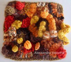 Freeform crochet.  Autunno