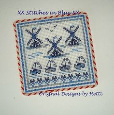Greetings from Holland # Mills and Wooden Shoes Cross Stitch Embroidery, Embroidery Patterns, Cross Stitch Patterns, Small Cross Stitch, Craft Patterns, Digital Pattern, Blackwork, Little Gifts, Dutch Language