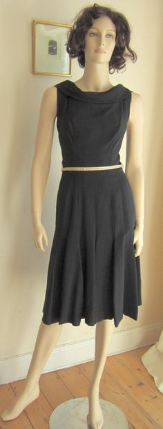 Vintage 60s dress Suzy Perette LBD black by vintageartizania, $89.99