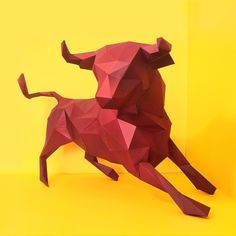 THE CHARGING BULL. Muscular and aggressive, the bull is a symbol of brute strength, strong-will, and a uncompromising nature.  Dimension:  Height: 484 mm Width: 465 mm Depth: 662 mm  Price: 5,000.00 PHP  Each piece is made of high-end extra heavy card stock (250-285 gsm weight). Coated with a thin layer of polymeric film to protect it from dust, splashes, and discoloration.