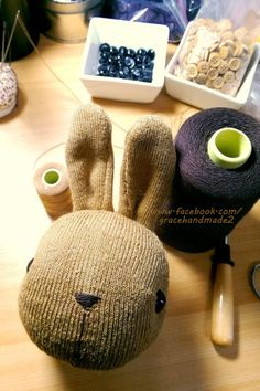 Grace--#340 sock Domy Rabbit