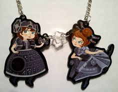 Star Wars Cosplay Girls acrylic charm necklace by by theGorgonist
