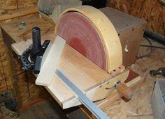 John Heisz's homemade miter sander.