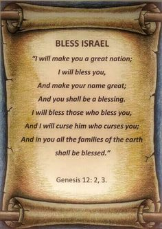 Genesis 12:2-3 Pray for Israel and for peace in Jerusalem. http://www.rebeccaatthewell.org/store/products/anointing-breaks-the-yoke/