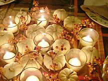 white pumpkin centerpieces - Google Search