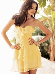 Arden B!! Chiffon Ruffle Tube Dress Style Number: 46228642 http://www.ardenb.com/catalog/category.jsp?categoryId=1397