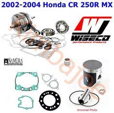 2002 2003 2004 Honda CR 250R Engine Rebuild Wiseco Crank Namura Piston Gaskets