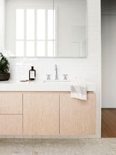 Bathroom of a renovated 100-year-old Victorian terrace in Melbourne. Photo: Eve Wilson | Styling: Simone Haag