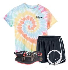"""""""Exact OOTD that I'm wearing☀️"""" by flroasburn ❤ liked on Polyvore featuring Camp Collection, NIKE and Chaco"""
