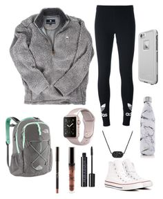 """""""Untitled #6"""" by virginiabaird on Polyvore featuring adidas Originals, Converse, LifeProof, S'well, Kendra Scott, Urban Decay and The North Face"""