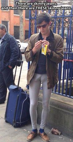 If you know this man, please, for the love of God tell him to BURN these pants!!