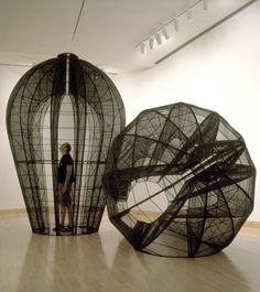"'Bell' by American artist Kendall Buster (b 1954). ""Her works explore the idea of 'biological architecture.' Inspired by microscopic organisms & cellular structures, Buster realizes these natural forms at colossal scales with high-tech fabrics & a matrix of modular armatures."" Text: Davidson College. via Pokate"