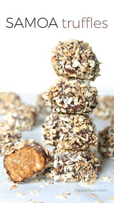 Samoa Truffles have all the great flavors of your favorite Girl Scout Cookies! #girlscoutcookies #cookies #desserts