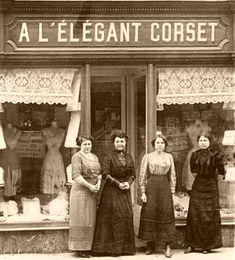 "A corset shop. Great Aunt Mary owned ""Elizabeth's corset shop"""