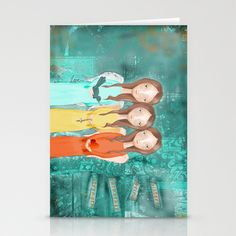 The+Strength+of+Sisters+Stationery+Cards+by+Floppin+Flower+-+$12.00