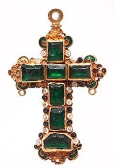 Emerald cross from the Atocha shipwreck at the Mel Fisher Museum, Key West, Florida