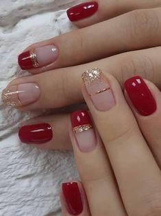 Bling Nails, Red Nails, Hair And Nails, Flower Backdrop, Beauty Nails, Pretty Nails, Nail Art Designs, Dress, Geometric Nail Art
