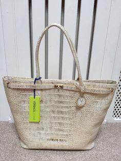 VERSACE JEANS Ladies Large Gold & Cream CROC Effect Bag BNWT   | eBay