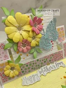 Fancy Fold Cards, Folded Cards, Dawns Stamping Thoughts, Easel Cards, Mothers Day Cards, Craft Tutorials, Pattern Paper, Crafts To Make, Birthday Cards