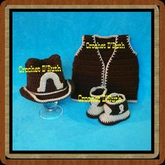 Cowboy  Set Crochet baby
