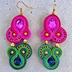 Handmade ZuzDesign soutache earings Impressia  http://femmefashion.sk/zuz-design/2371-nausnice-impresia.html