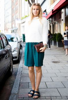 Culottes + Birkenstocks = the ULTIMATE trendy outfit. Thanks Collage Vintage for the inspirational photo!