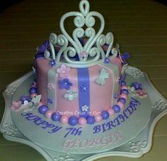 Princess Tiara Cake - handmade sugarpaste tiara