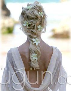 Uzun Gelin Saçı Modelleri - Gelin Saçı ve Makyajı Galerisi