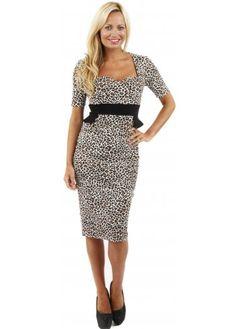 Stunning black and white animal print dress..