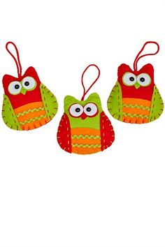 Promotions - Fabric Owl Ornaments Set