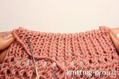 Закрытие петель с помощью иглы трикотажным швом - knitting-pro.ru - От азов к мастерству