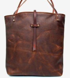 Leather Market Tote Bag by In Blue Handmade on Scoutmob