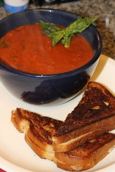 Homemade Roasted Tomato Basil Soup!!!