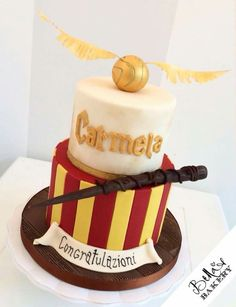 Harry Potter Cake Decorating Kit Uk : 3d harry potter book cake with glasses, sorting hat, scarf ...