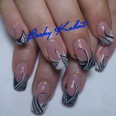 Trendy nails blue matte french tips Ideas French Nail Art, French Nail Designs, Gel Nail Designs, French Manicure Nails, French Tip Nails, French Tips, Pink Nail Art, Blue Nails, Fancy Nails