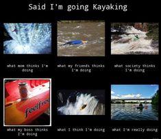 Whitewater Kayak Gear I'm going kayaking. Kayaking Quotes, Kayaking Gear, Whitewater Kayaking, Canoeing, Kayak Fishing Tips, Kayak Camping, Canoe And Kayak, Canoe Trip, Fishing Boats