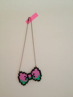 Perler bead necklace! Easy & cool!