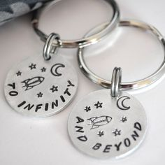 Best Friend Keychains Couple Keychain Pair by DesignMeJewelry, $29.00