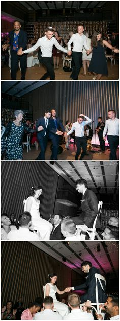 smiling guests dancing at jewish wedding and bride and groom up on chairs at London wedding. London Wedding, Party Time, Dancing, Groom, Zara, Chairs, Bride, Photography, Wedding Bride