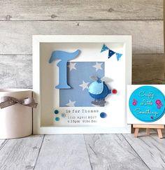 Baby Boy Gift Personalised Aeroplane Box Frame Personalised