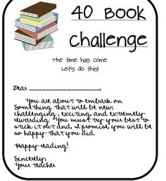 40 Book Challenge - a must for BOY 6th Grade Ela, Third Grade Reading, Fourth Grade, 40 Book Challenge, Reading Challenge, Teaching Reading, Reading Lessons, Reading Activities, Guided Reading
