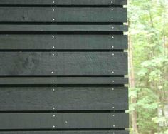 Corn Crib Siding for the weeHouse. Black Cladding, Timber Cladding, Cladding Ideas, Timber Buildings, Garden Buildings, External Cladding, House Cladding, Wood Facade, Timber Fencing