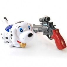 Electric infrared laser pistols shooting toy - puppy