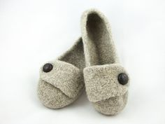 Barley Womens Felted Wool Slippers by ppodDesign on Etsy, $45.00  #celebrateyou #nicolettemason #simplybe