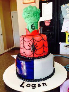 Super hero cake! Front angle