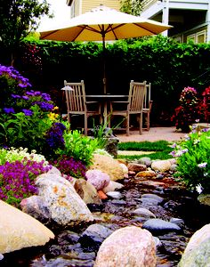 Water features in the garden.  http://linders.com/landscaping/